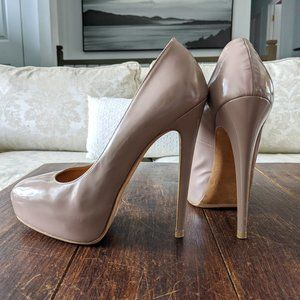 👠 BRIAN ATWOOD - Maniac Taupe Leather Pump